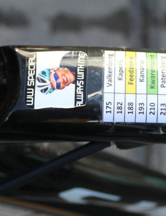 A memorial to a fallen friend: Belgian pro Wouter Weylandt died at the 2011 Giro d'Italia in a high-speed crash