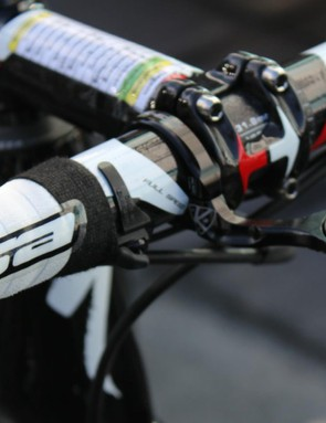 Zdenek Stybar had the spliced sprinter shifters on the bar top, too —but on the opposite side as Keisse
