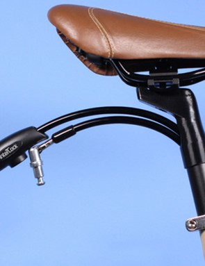 The InterLock is a cable lock hidden inside a seatpost