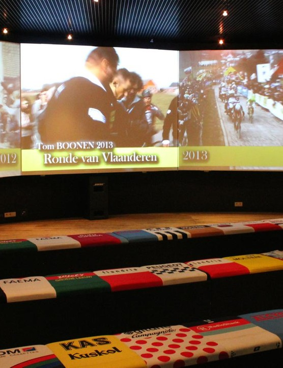 Videos of recent editions of the race run in loops inside the museum