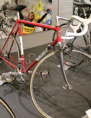 This Freddy Maertens Flandria is a tough-guy bike: one bottle cage (no rivets for a second), and 52/42 x 12-18 gearing