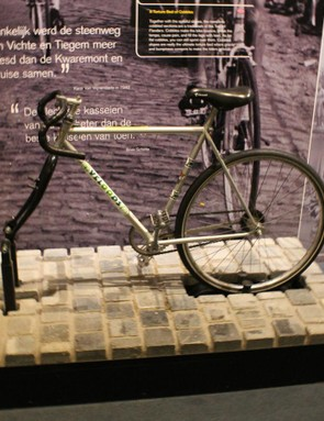 The Tour of Flanders Centre has an adult and a kid's bike on ovalized rollers that replicates the rattling feeling of riding on cobbles
