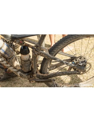 This is what the average bike looked like after a dry stage. On a wet stage you could see the tears of the bikes