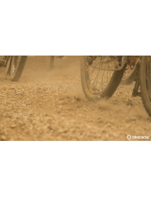 From sand to pea gravel, even the firetrails are not a time to relax...