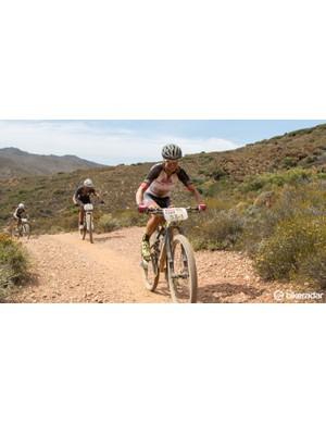Gunn-Rita Dahle Flesjå is the world's most succesful female mountain biker. Despite losing her partner Kathrin Stirnemann due to illness, Gunn-Rita was all smiles