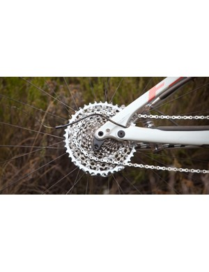 40km into the 113km first stage, this rider snapped a derailleur. He finished the stage