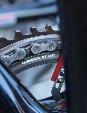 Lars Bak had his Paris-Roubaix gear of 53/46 already on for Scheldeprijs on Wednesday