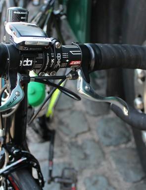 Europcar's Johann Gene was clearly race-testing his Paris-Roubaix bike
