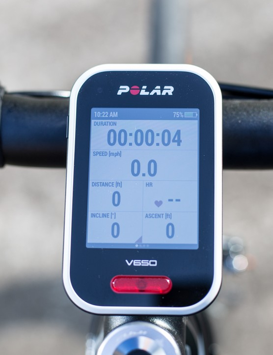 Polar V650 - a GPS cycle computer from the Finnish heart-rate experts