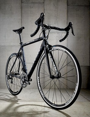 The beautifully satin-finished frame may fool your mates into thinking you're riding all-carbon