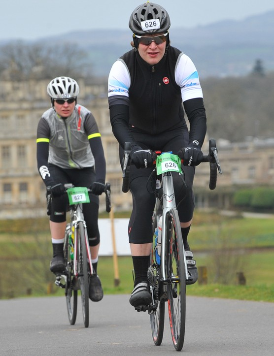 The ride began with a chilly climb up from the spectacular Longleat House
