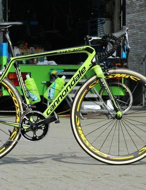 Cannondale-Garmin's Ruben Zepuntke is riding his first Paris-Roubaix this year