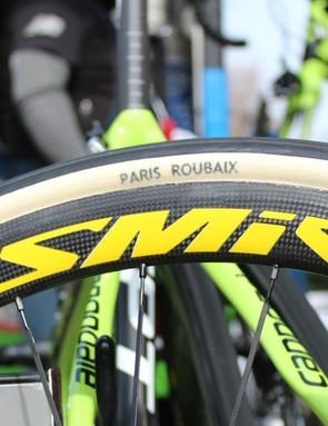 FMB 30mm Paris-Roubaix tubulars go on specially made Mavic wheels