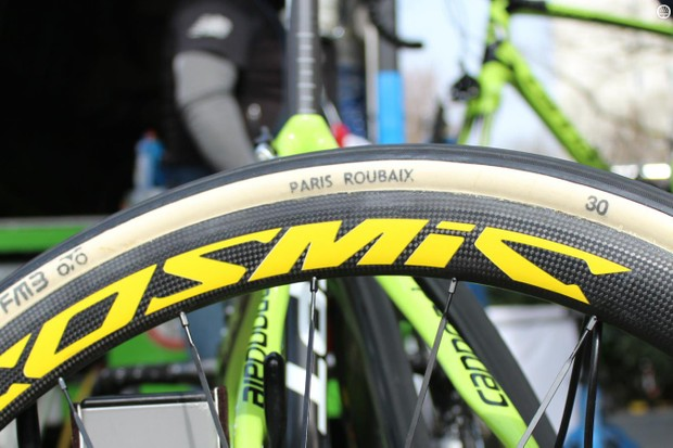 FMB 30mm Paris-Roubaix tubulars go on specially made Mavic wheels