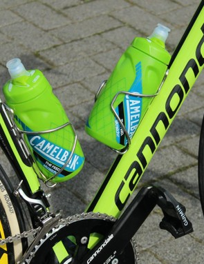 While most of Cannondale's consumer Synapse endurance bikes now come with disc brakes, that isn't yet a legal possibility for race teams