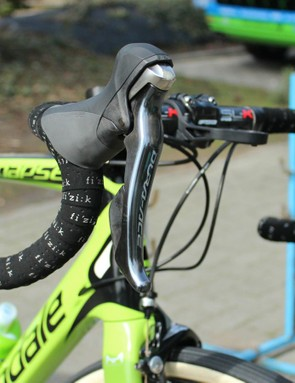 Cannondale-Garmin uses Shimano Di2 for standard road stages, but mechanical Dura-Ace for Paris-Roubaix