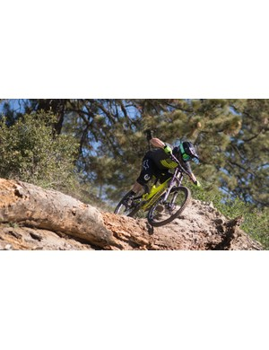 Nico Menard putting the new DH V4 through its paces