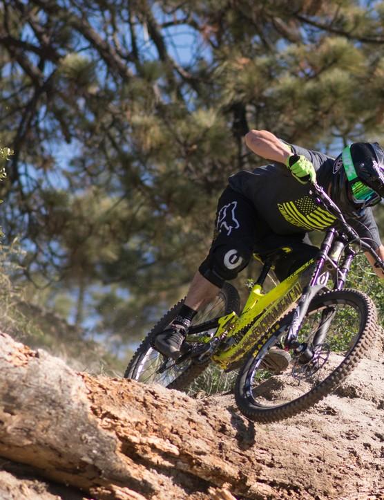 Nico Menard putting the new DH V4 through its paces
