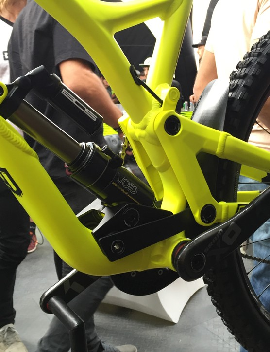 Suspension travel has been increased by 20mm over the V3 to 220mm (8.6in)