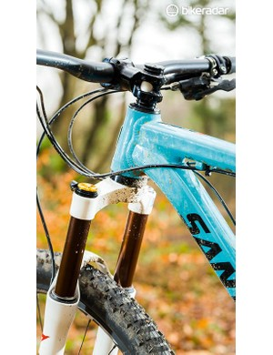 We kitted the Highball with a 120mm Marzocchi fork