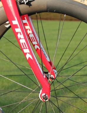 Devolder has the same fit coordinates on the two bikes, but the Domane Classics has slacker endurance geometry