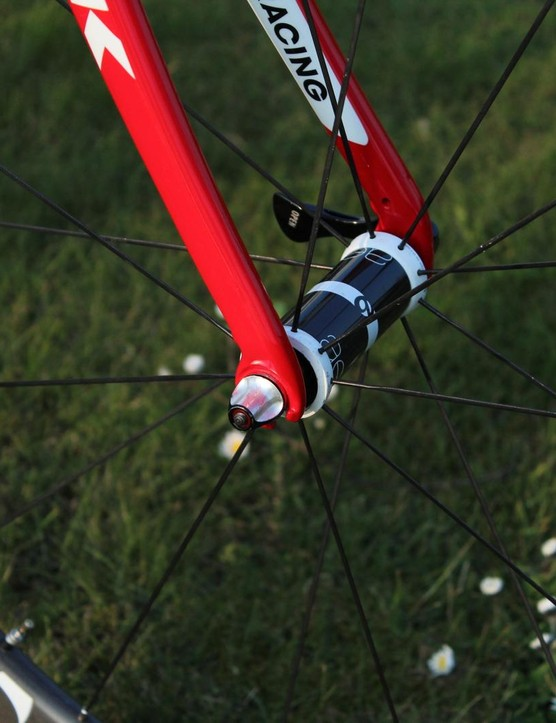 The Domane Classics has a slack head tube angle, and a fairly normal-looking fork