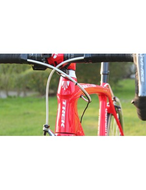 The Domane Koppenberg has Trek's newer style of internal routing