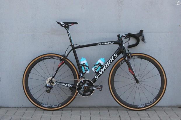 Defending Paris-Roubiax champion Niki Terpstra's Specialized S-Works Roubaix