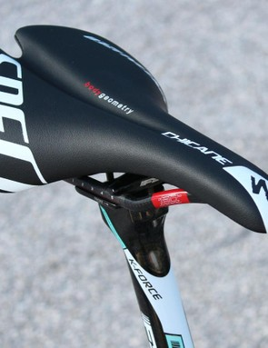 The Specialized Chicane is a modern interpretation of an older Regal-like style. Terpstra uses the 155mm width