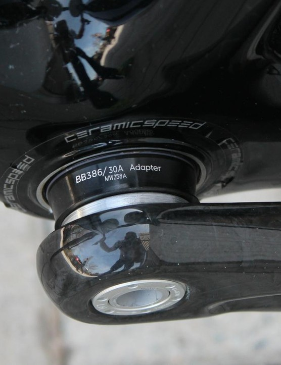 Specialized's OSBB joins with the FSA K-Force Light crank via this adapter