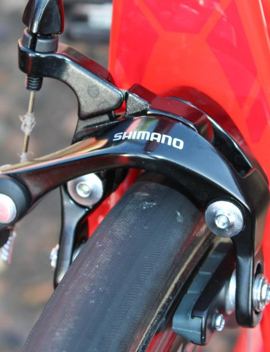 BMC employs non-seires direct-mount brakes to get the job done