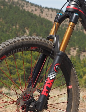 Most of the Zesty's life has been spent with RockShox's fantastic 160mm-travel Pike RCT3 fork. I wanted to try something a little burlier, though, so it was recently swapped out for a Fox 36