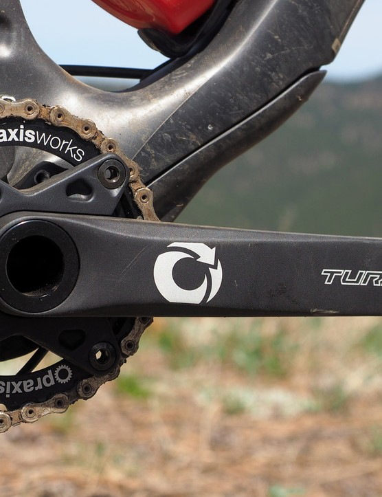 One of the bike's most recent additions is the burly Girder M30 crank from Turn - the crankset division of chainring maker Praxis. It's not the lightest thing around (and in fact, it's way heavier than the Race Face SixC carbon crank it replaced) but it's stout and tough - at least so far