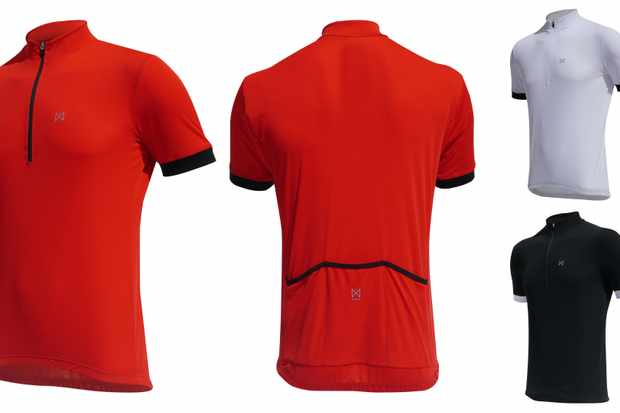 The Merlin Ware Core jersey range features red, white and black designs for £18