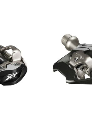 Both the M8000 Race and M8020 Trail pedals feature wider and more stable platforms