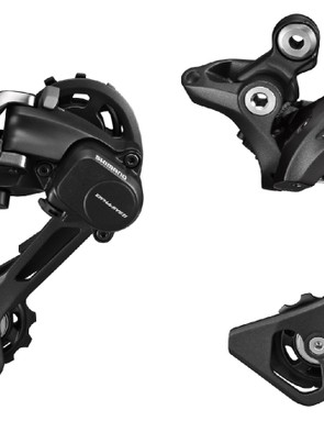The rear derailleur is now Shadow Plus only, with a long-cage version available for those looking to use a triple chainring up front