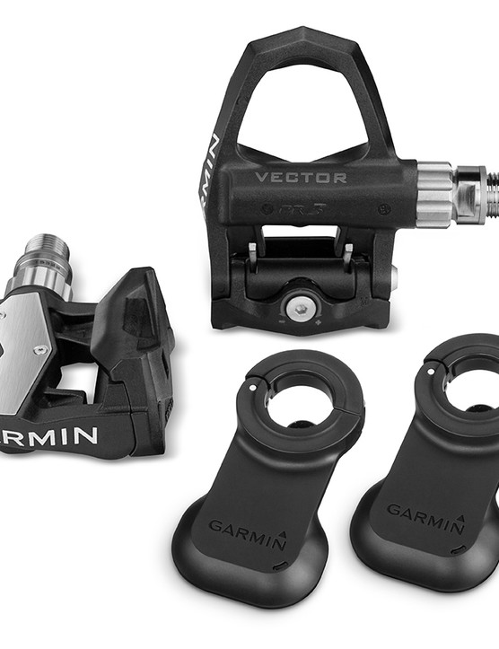 The new Garmin Vector 2 adds LED displays to the now-black pods