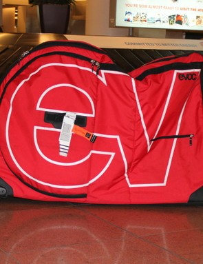 The EVOC Bike Travel Bag is relatively easy to travel with