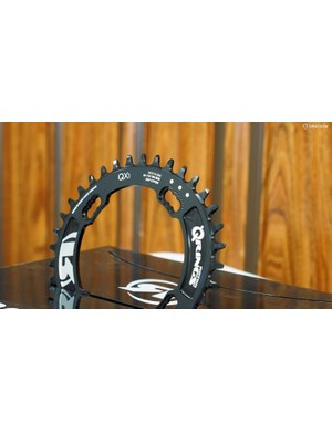 Rotor also introduced its new 104mm BCD 1x-specific chainring with alternating narrow-wide teeth for use on most four-arm cranksets