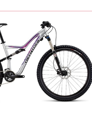 The base model Specialized Rumor 650b offers a RockShox Sektor Silver QR 130mm fork, custom-tuned X-Fusion rear shock, Shimano Deore 2x10 drivetrain and Tektro hydraulic disc brakes with a special short-reach lever