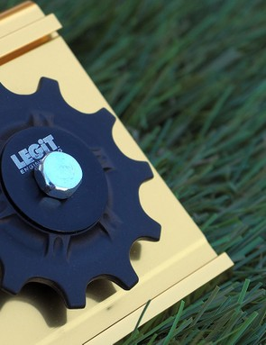 Legit Engineering's derailleur pulleys use fibre-reinforced nylon bodies and hybrid ceramic bearings that spin impressively well