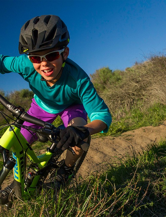 For many years Trek employees have created custom, one-off mountain bikes for their own children, now the company has an off-the-shelf model that mimics the performance of one of its best-selling full suspension bikes