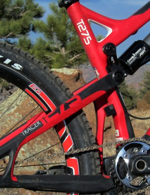 As if this wasn't bad enough, there's an even bigger 'T275' logo on the top of the top tube, where you couldn't overlook it even if you tried