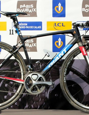 The winning bike of the 2015 Paris-Roubaix, the 2014 Giant Defy Advanced SL