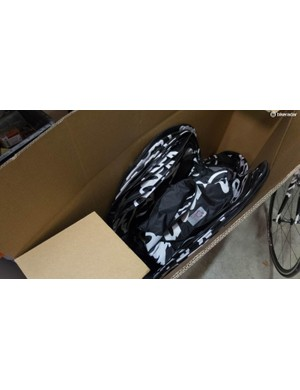 With all these wheels come wheel bags, which aren't really needed in the course of normal team activities