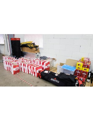 Another area is set aside for the goody bags destined for VIPs