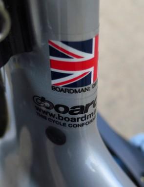 Boardman's bikes are proudly designed in Britain