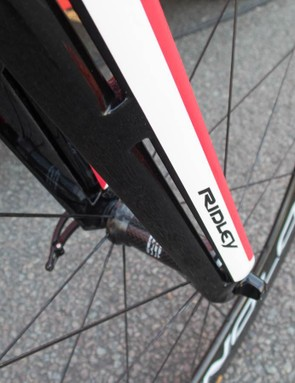 Ridley's signature F-Split fork design is all about the aero