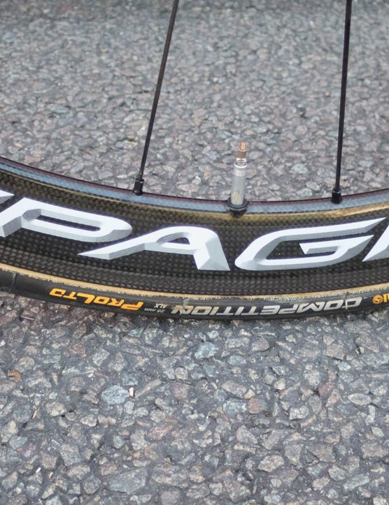 Fairly smooth roads means Continental Pro Ltd 25mm tubulars