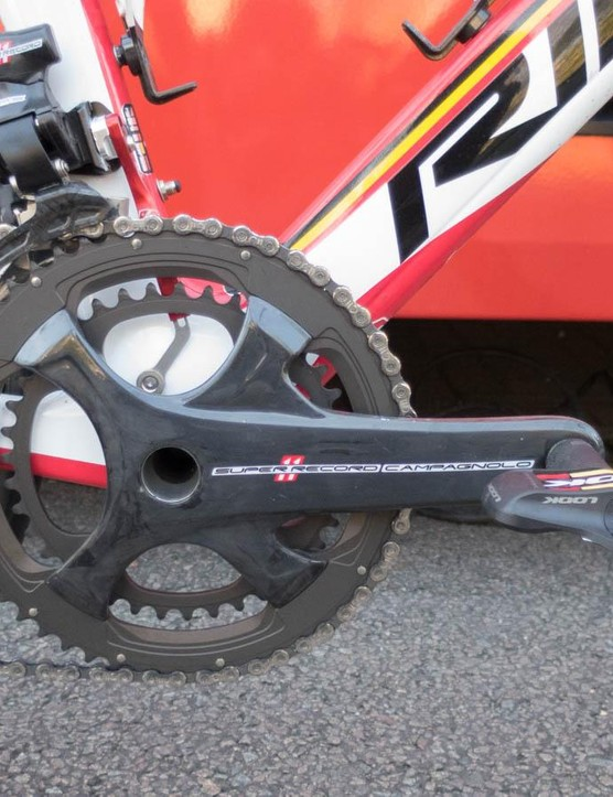 We're still getting used to the looks of Campagnolo's four-arm cranks